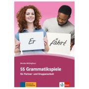 55 Grammatikspiele für Partner- und Gruppenarbeit, Kopiervorlagen - Monika Rehlinghaus