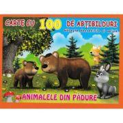 Animalele din padure - Carte cu 100 de abtibilduri