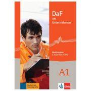 DaF im Unternehmen A1, Medienpaket (2 Audio-CDs + DVD) - Andreea Farmache, Regine Grosser, Claudia Hanke