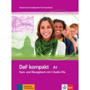 DaF kompakt A1. Deutsch als Fremdsprache für Erwachsene. Kurs- und Übungsbuch mit 2 Audio-CDs - Birgit Braun, Margit Doubek