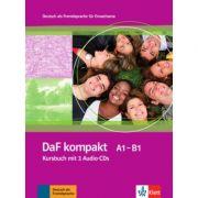 DaF kompakt A1-B1, Deutsch als Fremdsprache für Erwachsene. Kursbuch mit 3 Audio-CDs - Birgit Braun, Margit Doubek