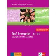 DaF kompakt A1-B1. Deutsch als Fremdsprache für Erwachsene. Übungsbuch mit 2 Audio-CDs - Birgit Braun, Margit Doubek