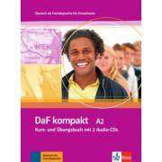DaF kompakt A2. Deutsch als Fremdsprache für Erwachsene. Kurs- und Übungsbuch mit 2 Audio-CDs - Birgit Braun, Margit Doubek