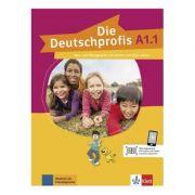 Die Deutschprofis A1. 1. Kurs- und Übungsbuch mit Audios und Clips online - Olga Swerlowa