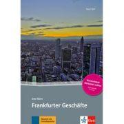 Frankfurter Geschäfte, Buch + Online-Angebot. Deutsche Lektüre für das GER-Niveau A2-B1 - Gabi Baier