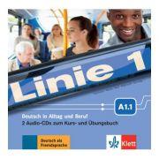 Linie 1 A1. 1, Deutsch in Alltag und Beruf. 2 Audio-CDs zum Kurs- und Übungsbuch - Eva Harst, Susan Kaufmann
