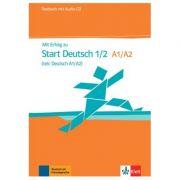 Mit Erfolg zu Start Deutsch 1/2 (telc Deutsch A1/A2), Testbuch + Audio-CD - Hubert Eichheim