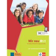 Wir neu B1. 1. Grundkurs Deutsch fur junge Lernende. Lehr- und Arbeitsbuch mit Audio-CD - Giorgio Motta, Eva-Maria Jenkins-Krumm