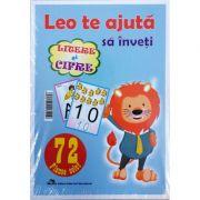 Leo te ajuta sa inveti litere si cifre. 72 de planse color clasa pregatitoare