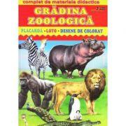 Gradina zoologica - Placarda, Loto, Desene de colorat