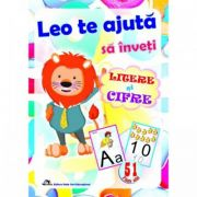 Leo te ajuta sa inveti litere si cifre. Set 51 de planse gradinita