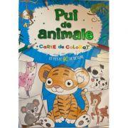 Pui de animale - carte de colorat