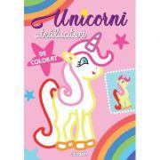 Unicorni stralucitori de colorat (roz)
