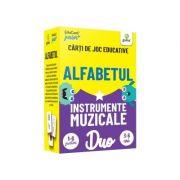 Alfabetul • Instrumente muzicale. Carti de joc educative