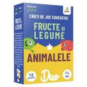 DuoCard - Fructe si legume • Animalele. Carti de joc educative