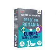 Orase din Romania • Europa. Tari si capitale. Carti de joc educative