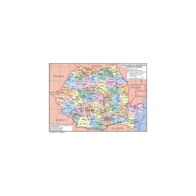 Harta Romania A4 - plastifiata