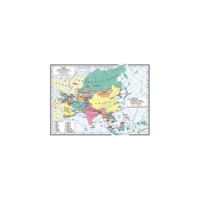 Harta fizica si politica Asia - A4