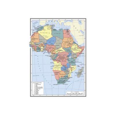 Harta Africa A4 - plastifiata