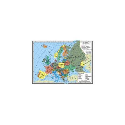 Harta Europa A4 - plastifiata