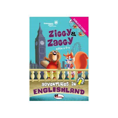 Ziggy & Zaggy. Adventures in Englishland. Contine 2 CD