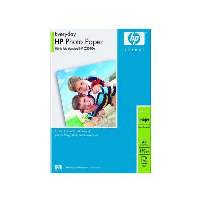 Hartie foto inkjet HP, A4, 170 gr/mp, semi-lucioasa 100 coli