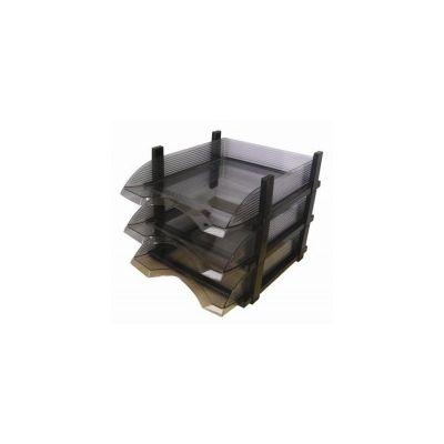 Tavite suprapozabile Flaro, transparent incolor, 3 buc/set