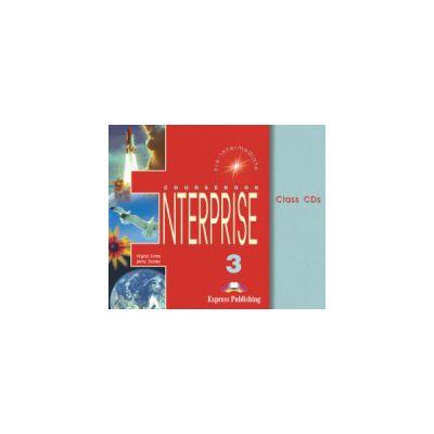 Enterprise 3, Pre-Intermediate. Class audio CDs. Set 3 CD. Curs de limba engleza pentru clasa VII-a