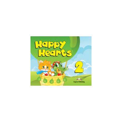 Happy Hearts 2, Pupils Pack. Curs de limba engleza pentru prescolari cu multirom si fise de lucru - Virginia Evans