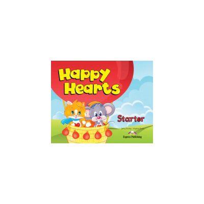 Happy Hearts, Starter, Pupils Pack. Curs de limba engleza pentru prescolari cu multirom si fise de lucru - Jenny Dooley
