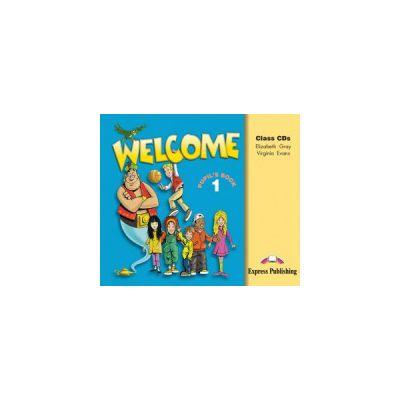 Welcome 1, Audio Set 3 CD, Curs de limba engleza - Virginia Evans