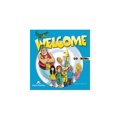 Welcome 1 CD-ROM (set 4 CD), Curs de limba engleza pentru clasa III-a
