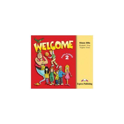 Welcome 2, Audio Set 3 CD-uri. Curs de limba engleza - Elizabeth Gray