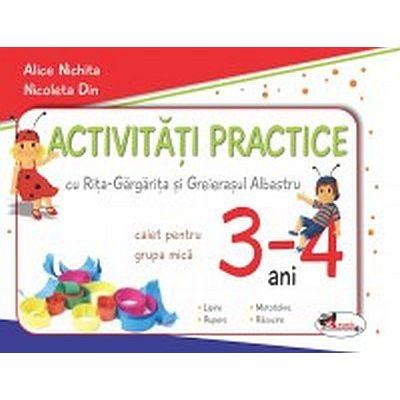 Activitati practice cu Rita-Gargarita si Greierasul Albastru, pentru grupa mica 3-4 ani
