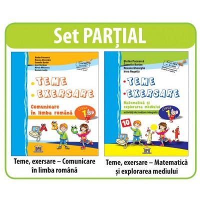 SET PARTIAL AUXILIARE CLASA I - Comunicare in limba romana; Matematica si explorarea mediului (teme, exersare)