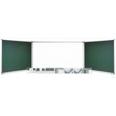 Tabla scolara triptica verde alba verde ( metalo-ceramica magnetica ) 1500x1200x3000mm TSTVAVP300
