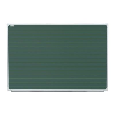 Tabla scolara magnetica verde liniata orizontal ( liniatura galbena /suport creta si carioca ) TSMVPLRO100