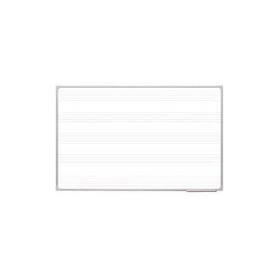 Tabla scolara magnetica alba cu model portativ ( suport creta si carioca ) TSMAPLMUZ170