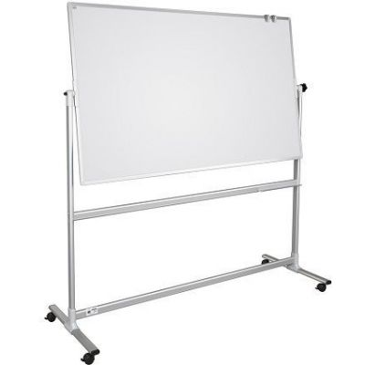 Tabla scolara alba magnetica pe suport mobil, 1700x1000 mm (TSMAPPS1017)
