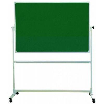 Tabla scolara pe suport mobil, verde suprafata metalo-ceramica magnetica, 1700x1000mm (TSMVPPS1017)