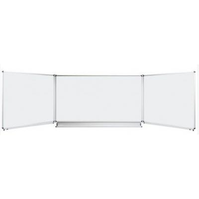 Tabla scolara triptica alba, metalo-ceramica magnetica, 1500x1200x3000mm (TSTAE300)