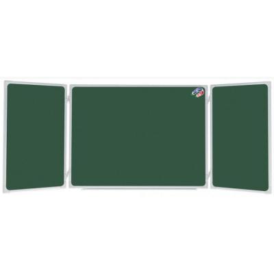 Tabla scolara triptica verde ( metalo-ceramica magnetica ) 1500x1200x3000mm TSTVP300