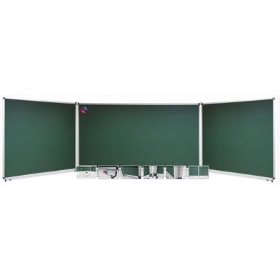 Tabla scolara triptica verde, metalo-ceramica magnetica, 1500x1200x3000mm (TSTVE300)