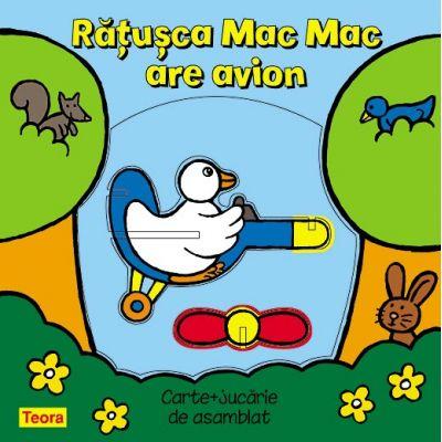Ratusca Mac Mac are avion - pagini cartonate cu jucarie (6859)