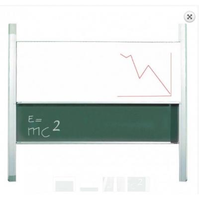 Tabla scolara verde cu 2 suprafete culisante pe verticala de 2000x1200mm (TSC2VP200)