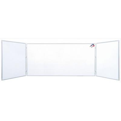 Tabla scolara triptica alba 2000x1200x4000mm ( metalo-ceramica ) whiteboard TSTAP400