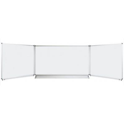 Tabla scolara triptica alba, metalo-ceramica magnetica, 2000x1200/4000 (TSTAE400)