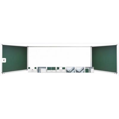Tabla scolara triptica combinata verde alb verde 2000 x 1200/4000 TSTVAVP400