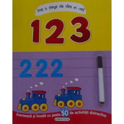 1, 2, 3 - Scrie si sterge de cate ori vrei! (+6 ani)