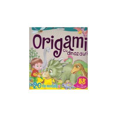 Origami cu dinozauri.